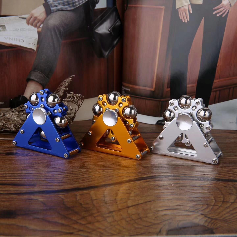 New Stainless Steel Fidget Spinner Creative Five Bead Ferris Wheel Hand Spinner Gyro Finger Stress Relief Toys