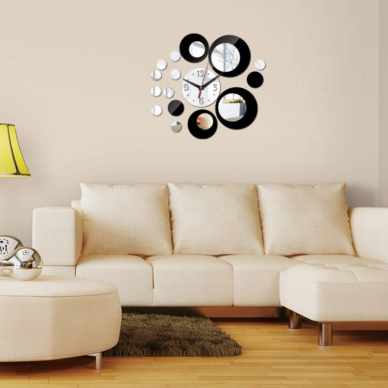 Лидер продаж 2017 года новая распродажа зеркало наклейки детская комната акрил 3D наклейки Европа стиль украшения дома DIY кварцевые часы Беспл...