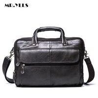 MR YLLS Luxury Men Handbag High Capacity Laptop Men Genuine Leather Shoulder Bag Leather Crossbody Male