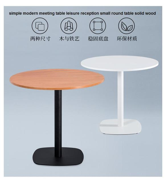 Semplice e moderno tavolo di riunione di ricezione per il tempo ...