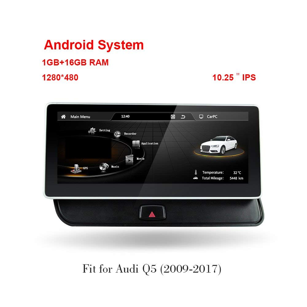 car accessories 10.25 inch Screen Android 4.4 Car Audi GPS Navigation System Radio Player Media Stereo for AUDI Q5 2009-2017 игрушка motormax audi q5 73385