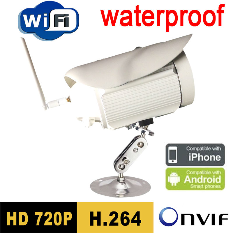 ip camera wireless wifi 720P HD surveillance Infrared Waterproof weatherproof security system cctv system outdoor baby white seven promise 720p bullet ip camera wifi 1 0mp motion detection outdoor waterproof mini white cctv surveillance security cctv