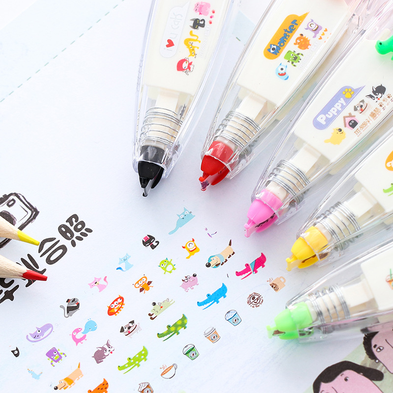 Correction Tape Animals Press Type Decorative Diary Stationery Schools Supplies