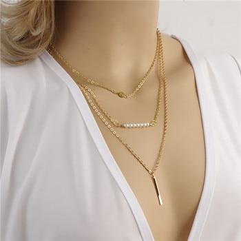 Hot Fashion Gold Kleur Multilayer Coin Kwasten Lariat Bar Kettingen Kralen Choker Veer Hangers Kettingen Voor Vrouwen Bijoux 5