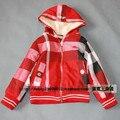 Niños de la manera ropa de niña caliente-venta de otoño e invierno a cuadros muñeca wadded chaqueta capa cotton-padded hijo varón