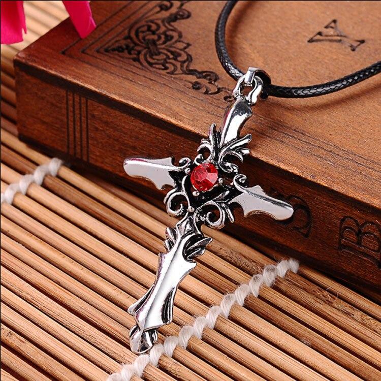 Fashion titanium studded Cross Pendant Necklace pattern male male cool male personality fashion jewelry gift