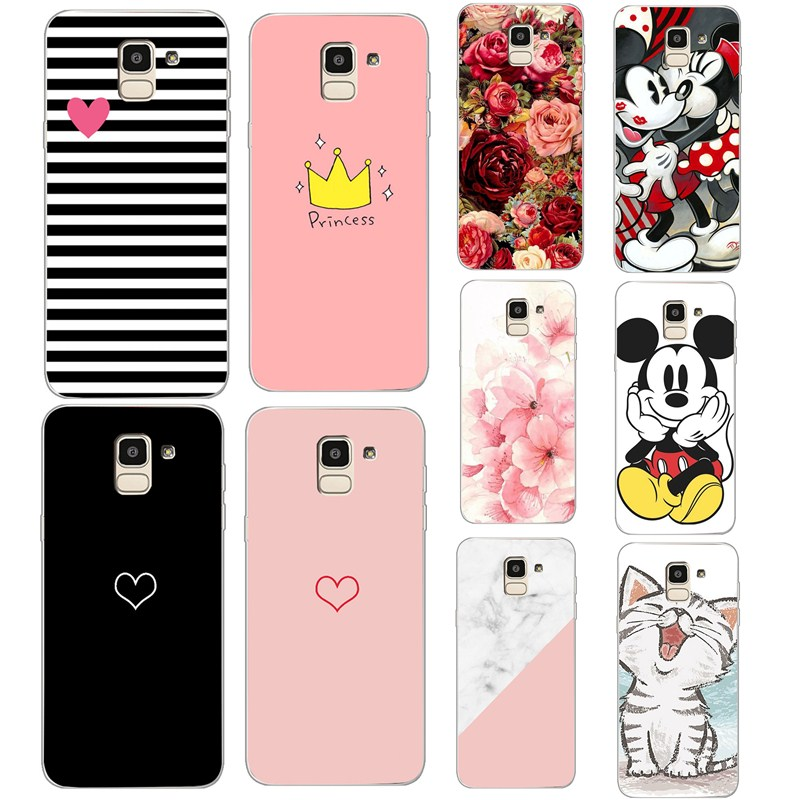 Case For <font><b>Samsung</b></font> GalaxyS7 Edge Case <font><b>Cover</b></font> for <font><b>Samsung</b></font> A8 Plus2018 Note 9 <font><b>Cover</b></font> Soft Flower TPU Silicone Coque Phone Case image