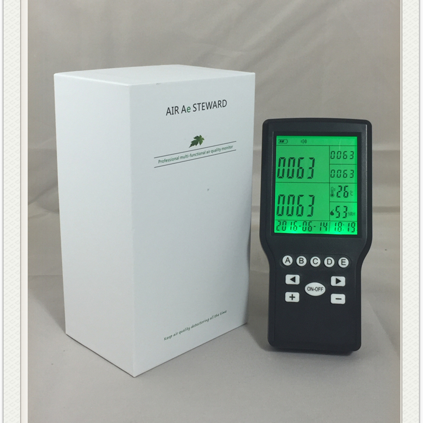Household Formaldehyde Monitor VOC Temperature/RH 4in 1 air quality Monitor factory supply air quality monitor for indoor voc and formaldehyde monitor