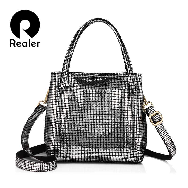 REALER brand genuine leather women bag female leather handbags with high quality ladies messenger bags Tote bags for women 2017