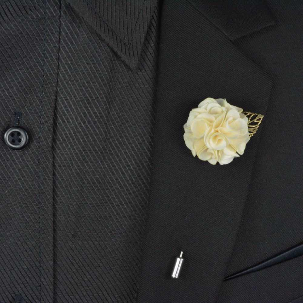 Fabric Flower Lapel Pin Elegant Women Men Lapel Flower Pin Wedding Party Suit Dress Decoration Brooch Pin Boutonniere Corsage