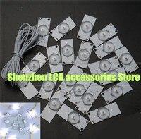 30 peças/lote contas de luz universal smd com lente óptica fliter para reparação tv led 3v Peças p/ flash     -