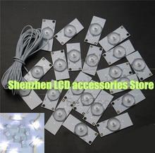 30 unid/lote de cuentas de lámpara Universal SMD con Fliter de lente óptica para reparación de TV LED 3v
