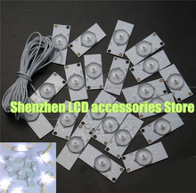 30piece/lot  Universal SMD Lamp Beads With Optical Lens Fliter for LED TV Repair 3v
