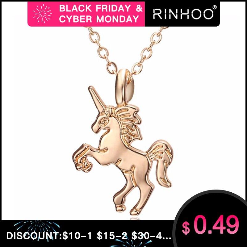 Hot HORSE Necklace For Girls Children Kids Enamel Cartoon Horse jewelry accessories Women Animal Necklace Pendant Unicorn Party