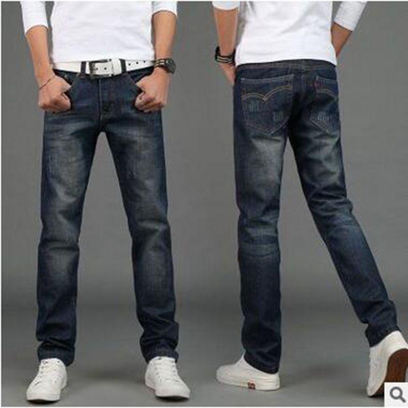 2016 neue farbe italien designer herren jeans marque de luxe einfach gerade mannliche manner robin hohe qualitat