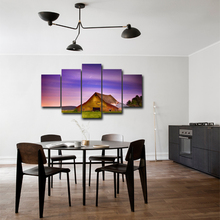 5 piece wall art canvas paintings posters farm house spray painting for living room home decoration