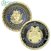 50/100pcs USN U.S. Navy Goat Challenge Coins Honor Courage Commitment Navy Coin Collectibles Commemorative Token Coins Souvenirs