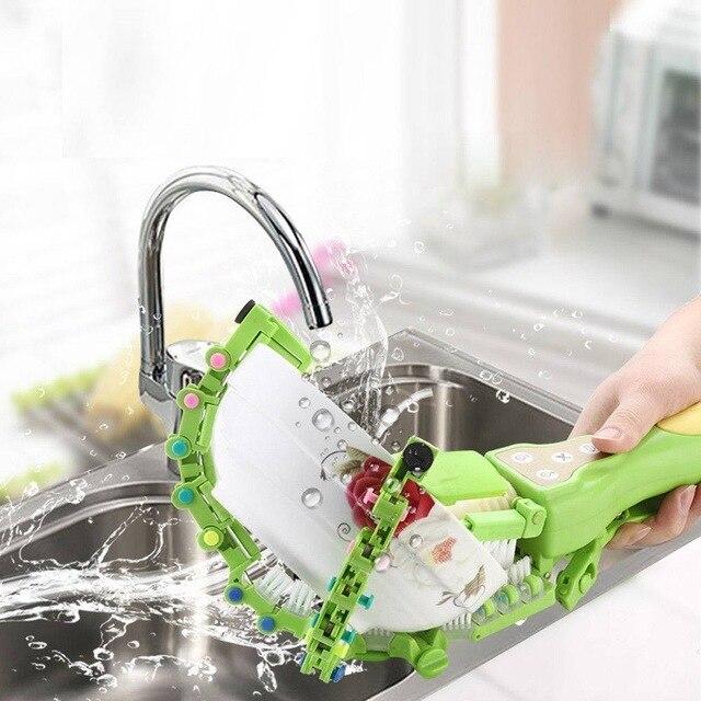 New Design Intelligent Handheld Automatic Dish Brush Scrubber Antibacterial Dishwasher Home Kitchen Bowls Plates Tool Z30