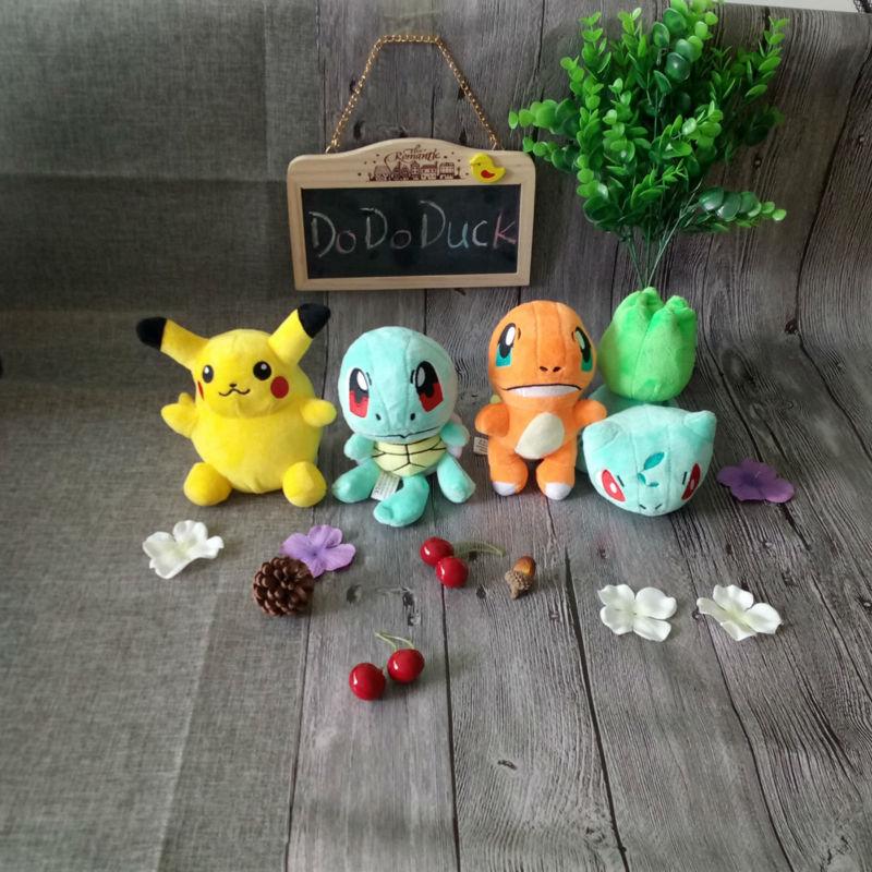 1 Pokemon Pikachu Bulbasaur Squirtle Charmander Set of 4 pcs