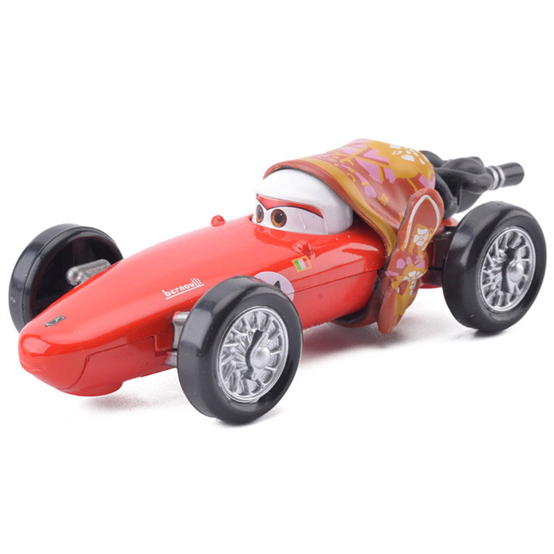 2 Style Disney Pixar Cars 2 F1 Francesco Bernoulli Mom 1:55 Diecast Metal Alloy Boys Toy Car Christmas Birthday Gift To Be Distributed All Over The World