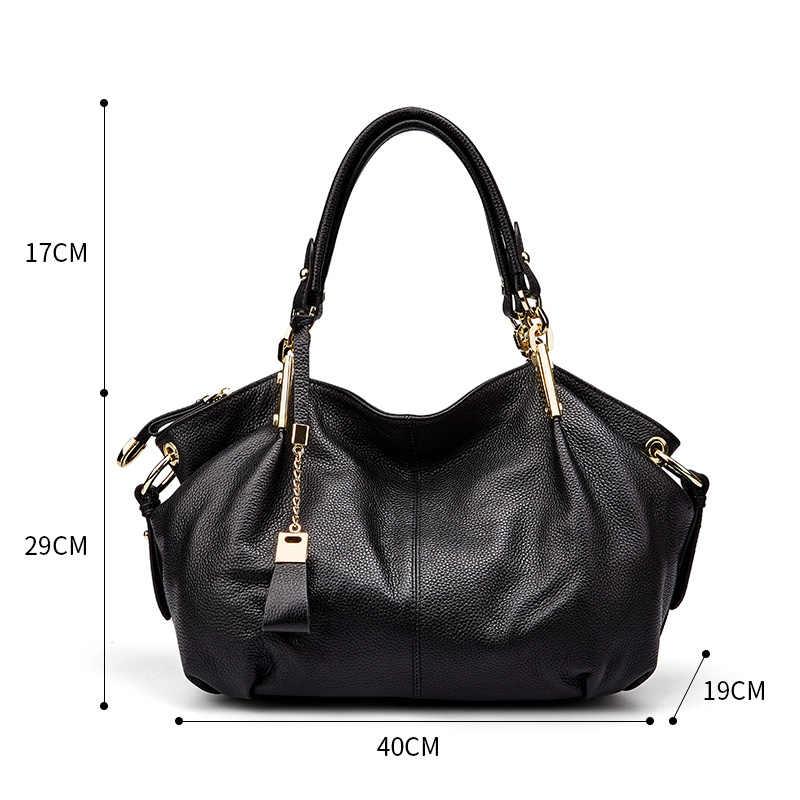 abd7ca8b76c0 ... Qiwang для женщин пояса из натуральной кожи сумки мягкой кожаные сумки-узлы  большой великолепные на