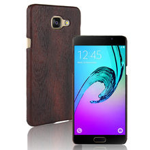 SuliCase Leather Case for Samsung A7 2016 A710 Wood Grain Hard Case Cover for Samsung Galaxy A7 2016 A710F Hard PC Frame Cover samsung sm a710 galaxy a7 2016 black