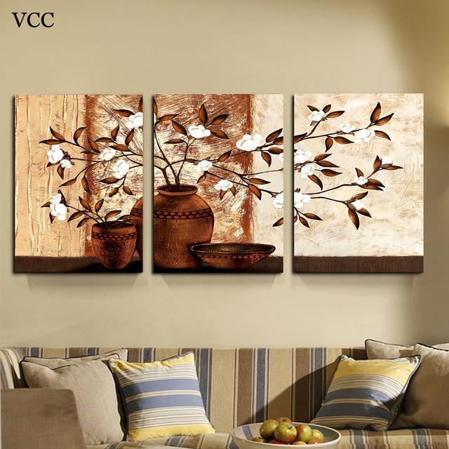 Comprar flores en un florero flor pintura pinturas lienzo de pared cuadros para - Cuadro para pared ...