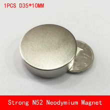 1PCS N45 N52 round D35x10mm Super Powerful N52 neodymium magnet diameter 35*10mm