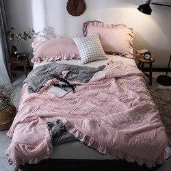 2020 nowa pościel solidna cienka letnia kołdra koce miękkie pocieszyciel narzuta pikowania nadaje się dla dorosłych dzieci tekstylia domowe YMQ18