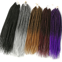 VERVES Ombre Crochet Braids 6 pack,30strands/pack 18'',small Senegalese Twist