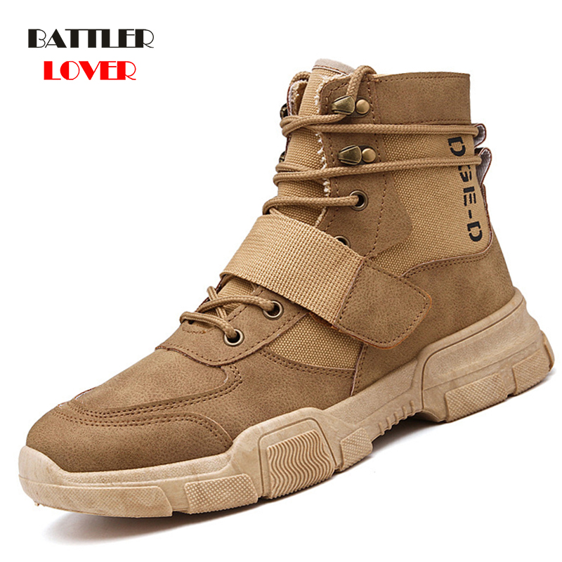 Desert Military Tactical Boots Men Outdoor Hiking Boot Winter Men Fashion Casual Shoes Comfortable Ankle Snow Boot Spring