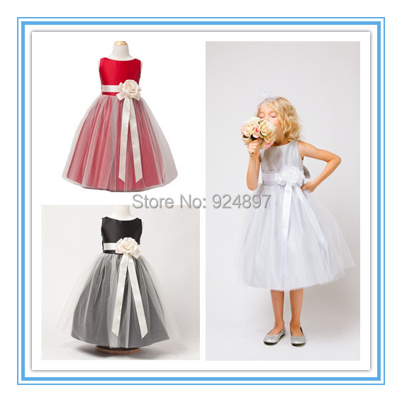 Compare Prices on Silver Flower Girl Dresses- Online Shopping/Buy ...