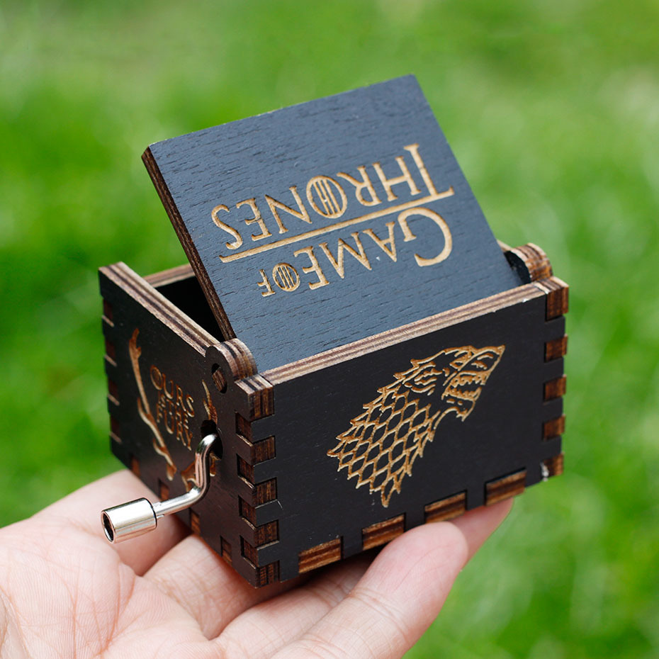 2018 Black Game of Throne Newly listed theme music box Harry Potter Davy Jones beauty and the beast RainBow Christmas gift