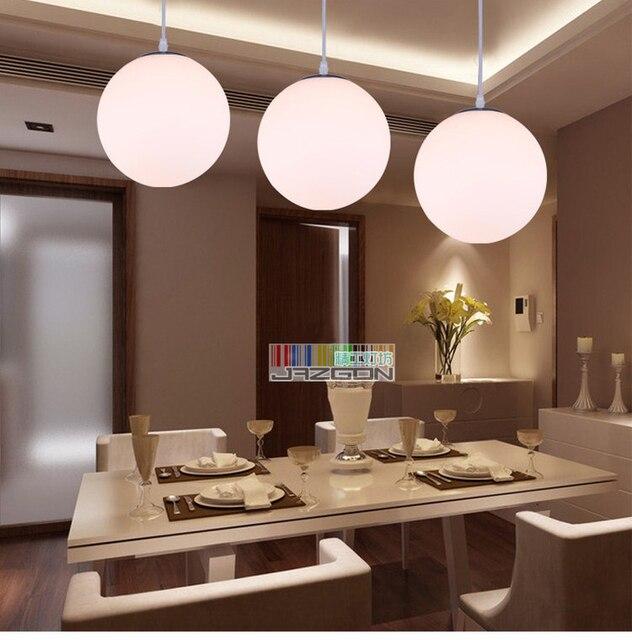 Romantico soggiorno ristorante lampada in vetro bianco sfera lampada ...