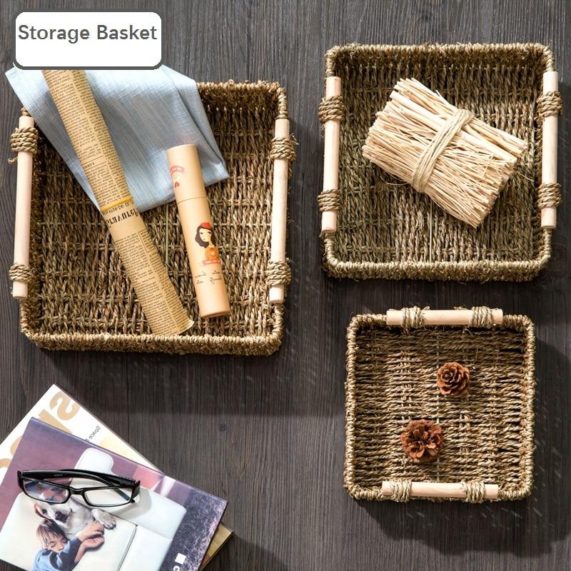 Bakery Desktop Storage Box Woven Fabric Storage Basket Bathroom Cosmetic Storage Basket Snacks Small Basket-in Storage Baskets from Home u0026 Garden on ... & Bakery Desktop Storage Box Woven Fabric Storage Basket Bathroom ...