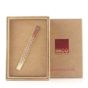 Image 5 - Genuine IMCO Lighter Delicacy Mini Slim Lighter Original Oil Gasoline Cigarette Lighter Cigar Fire Pure Copper Petrol