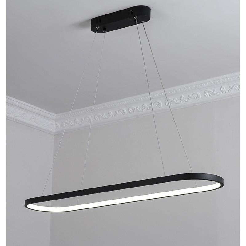 Modernas luces colgantes para comedor salón de aluminio negro/blanco ...