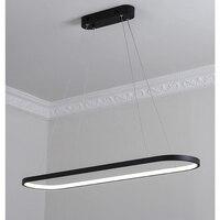 modern led pendant lights for dining room parlor aluminum black/white Pendant lamp suspension luminaire lustres lampadari