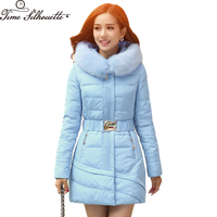 New 2019 Winter Jacket Women Coat Warm Fur Collar Coat Thicken Women Parka Coat Women's Cotton Long Jacket Plus Size XXXXL L07