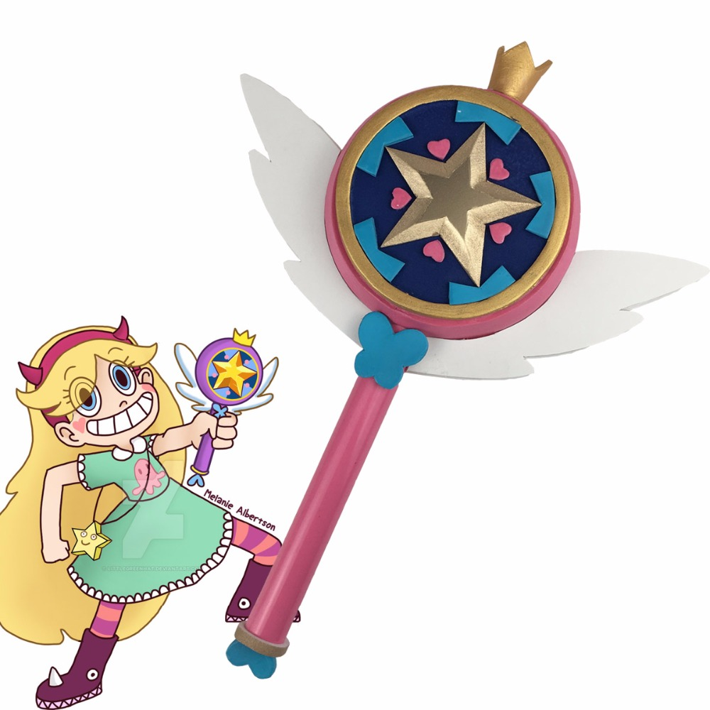 Star vs. the Forces of Evil Princess Magic Stick Wand Staves Cosplay Princess Star Butterfly Accessorie Props Fans Gift the power of five evil star