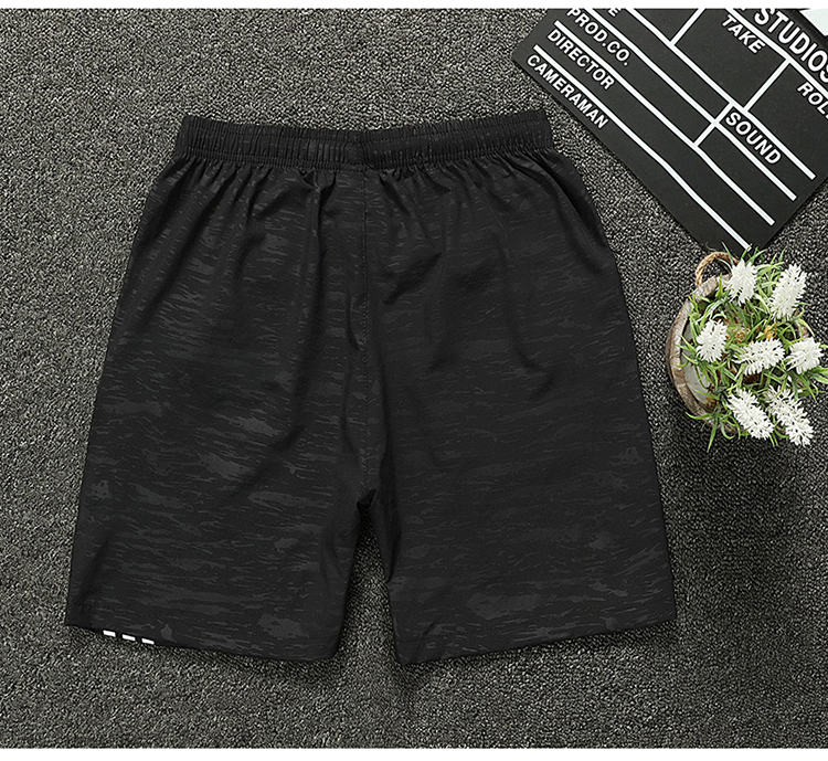 2018 Summer Men Quick Dry Running Shorts Breathable Polyester Sport Shorts With Pockets Size M-4XL Black Factory Dropshipping