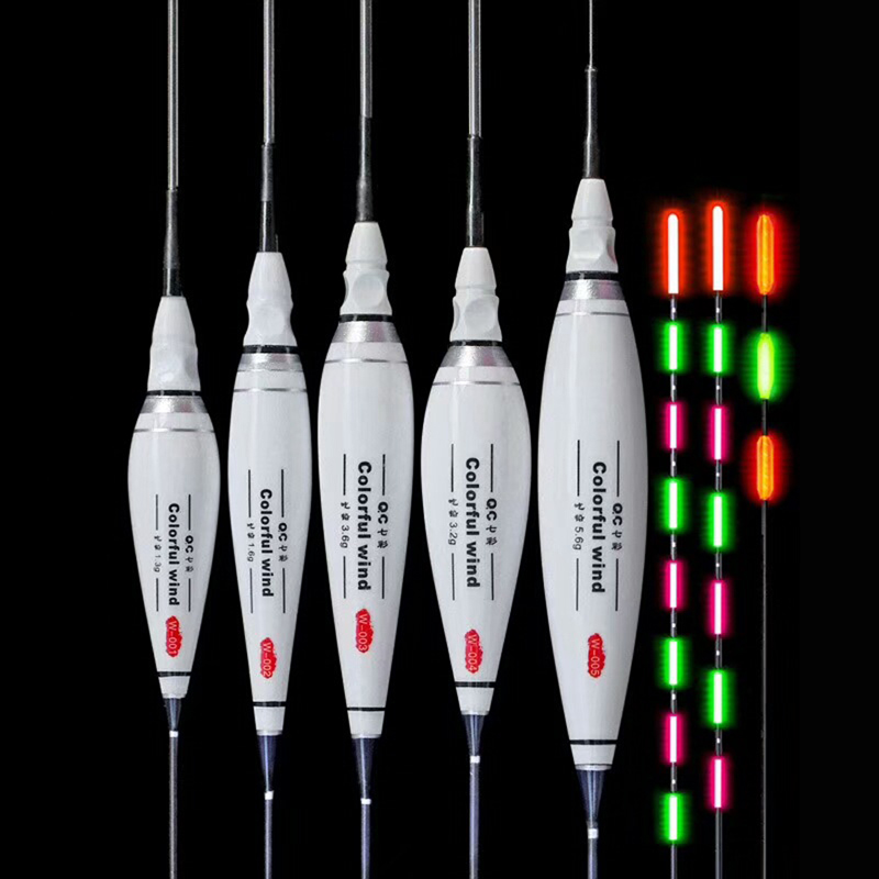 Luminous Fishing Float Night Fishing Flotador High Concentricity Buoy Bobber Composite Nano Boya Carp Fishing Tackle Accessories