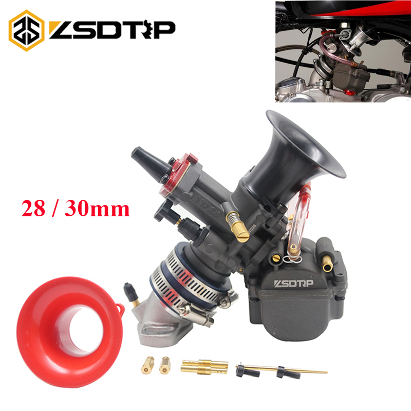 ZSDTRP Maikuni PWK 28 30mm Motorcycle Carburetor YD28 YD30 Carburador With Power Jet ATV Motorcycle Competitive