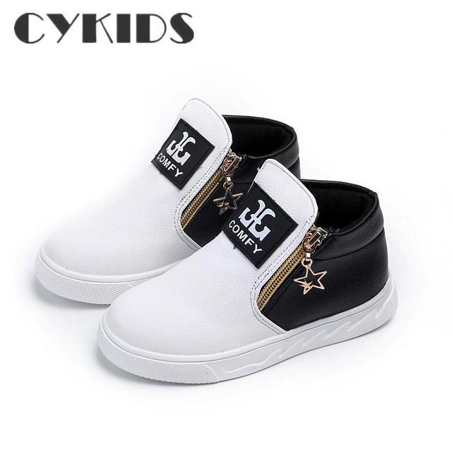 Crianças confortáveis sneakers criança botas shoes meninas botas sapatilhas de couro shoes para tênis de couro criança botas shoes plano com criança