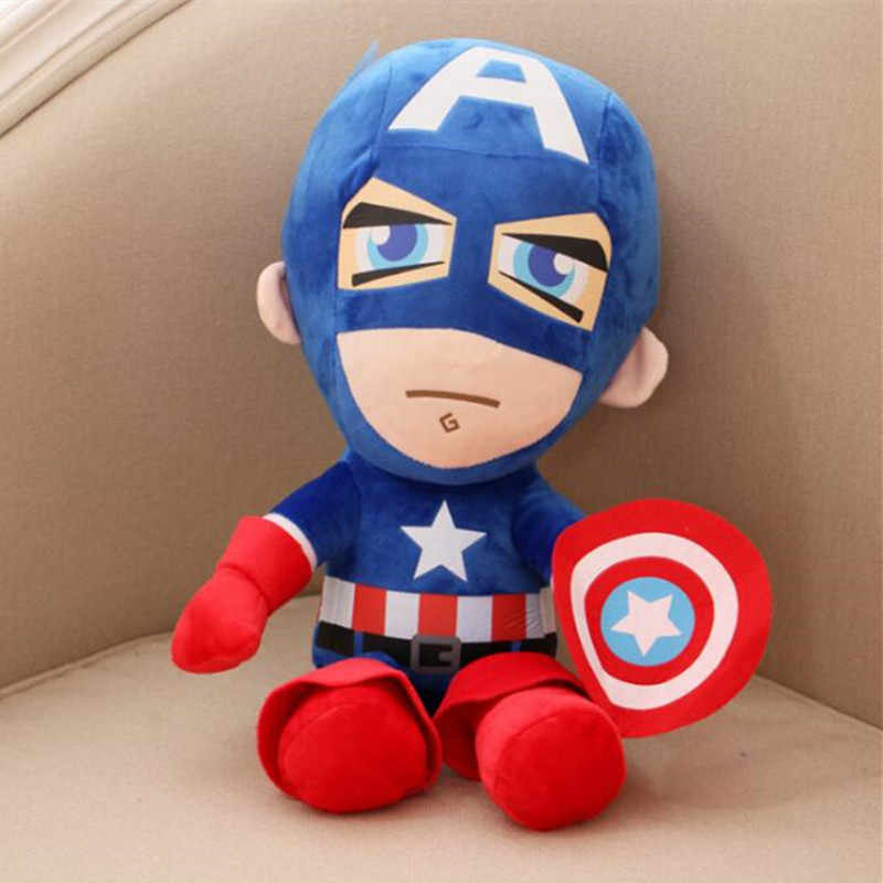 da7d6e9027f ... Hot Cute 30cm Q style Spider-man Captain America Stuffed toys Super hero  Batman plush ...