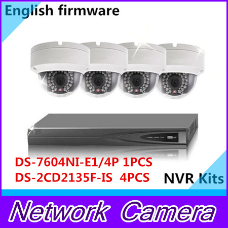 English DS 7604NI E1 4P 4 POE 1 piece Multi language DS 2CD2135F IS 3MP POE