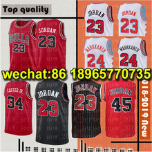 d0153fdf5203 Men s chicago 23 MJ bulls Home red Jersey 24 Lauri Markkanen 8 Zach LaVine  Black red