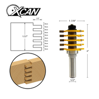 XCAN 1pc Drill Bits Wood Router Bit Adjustable 5 Blade 3 Flute 1 2 Inch Shank