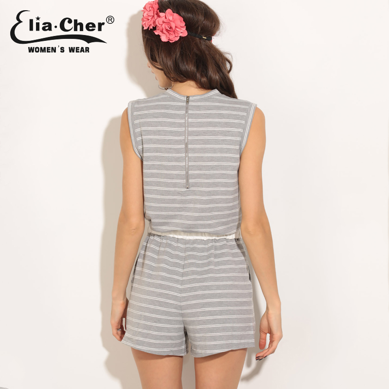 12fbfff6a629 Women Jumpsuits Elia Cher Brand 2017 Fashion Women Rompers Plus Size Casual Women  Clothing Chic Fitness Sexy Back Rompers 8396-in Rompers from Women s ...