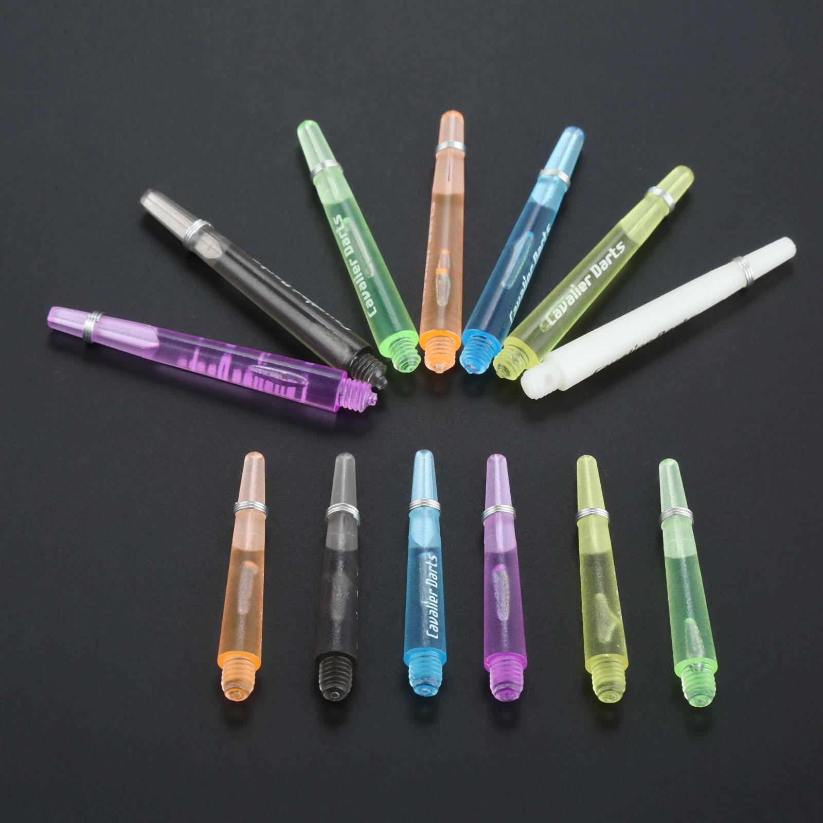 12 pièces 45mm/35mm axes de fléchettes en plastique 4.5mm filetage tiges de fléchettes transparentes avec anneau torique en acier inoxydable pour acier et fléchettes souples